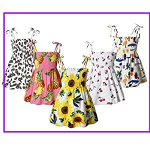 floral strap party dresses for girls