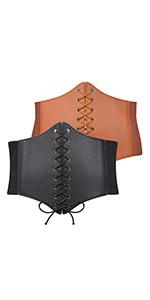 2 Pack Lace-up Corset Womens Belt