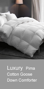 Luxury Pima Cotton Goose Down Comforter