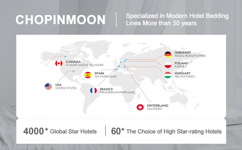 chopinmoon comforter for 5 stars hotel