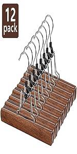 12 Pack Wooden Hangers