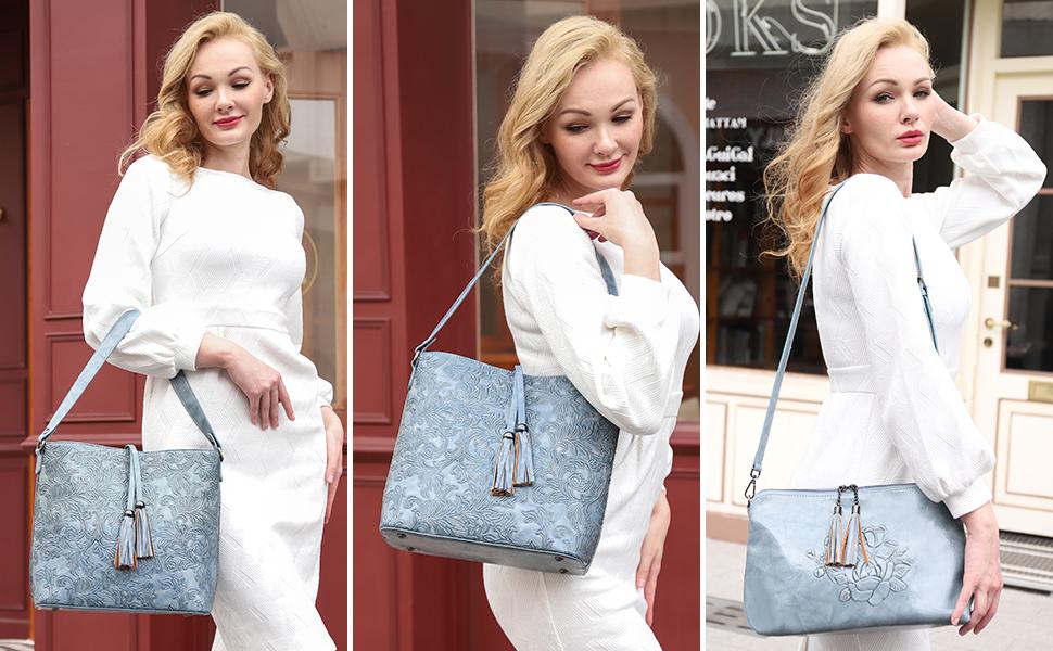 handbags for women embossed purse