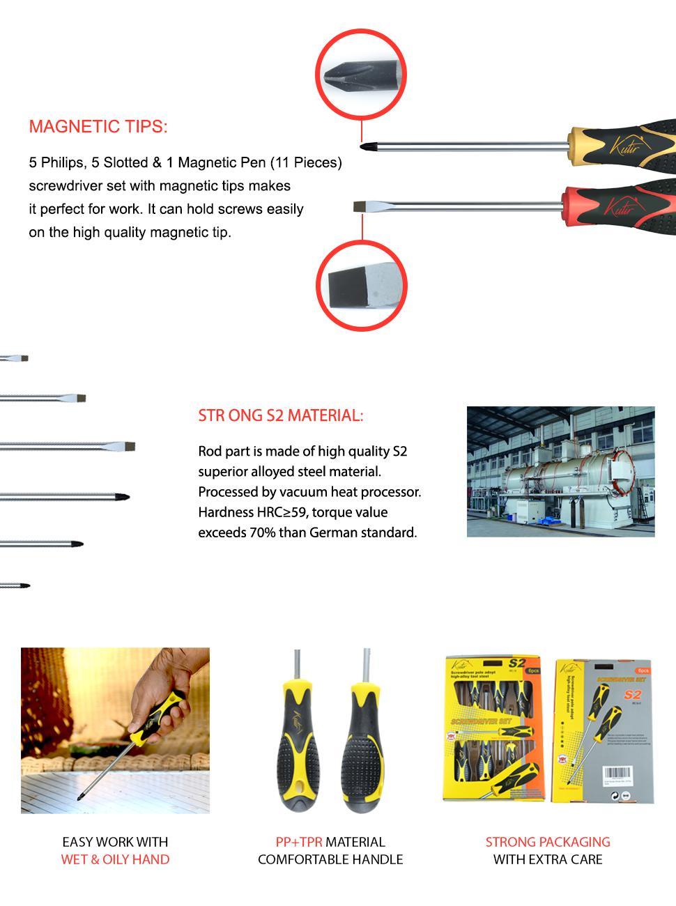 Kutir 11pcs Screwdriver Set