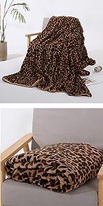 leopard print brown blanket throw