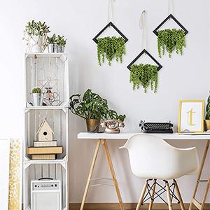 artificial floral pick hangers lifestyle in use greenery on wall