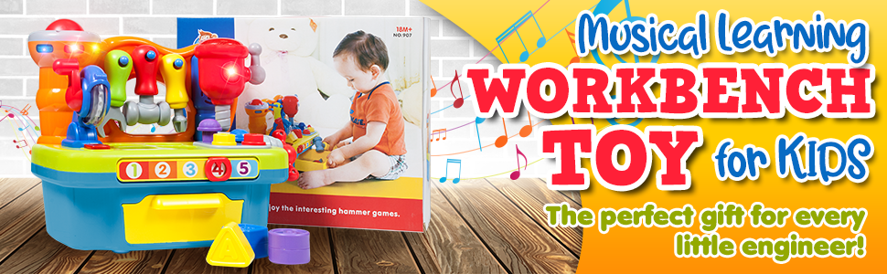 musical learning workbench 1yr 1 year oneyear 2yr 2year 2years old 12months 12 toolbench 1yearold