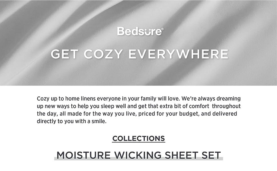 moisture wicking sheet set