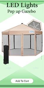pop up gazebo with netting