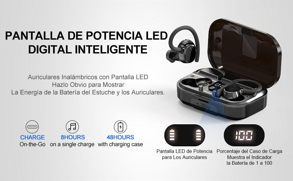 IP7 Impermeable Running Cascos Inalambricos In Ear Auriculares Cancelación