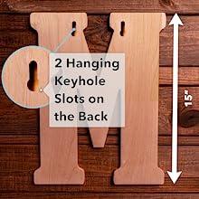 Keyhole Slots on All Vintage Letters