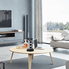 Our tower surge protector is suit for your living room