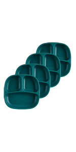 4pk 3 part divided plate for picky eaters