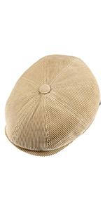 Lipodo 8 Panel Cordial Newsboy Cap from above view