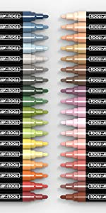 pen tips warm, cool, light, dark natural earth and skin colors acrylic paint pen tips