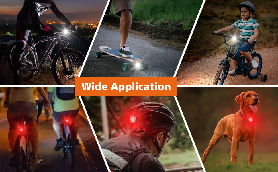 This bike light provides protection for road or mountain bikers, kids and even runners.