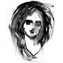 ilustração de um rosto feminino