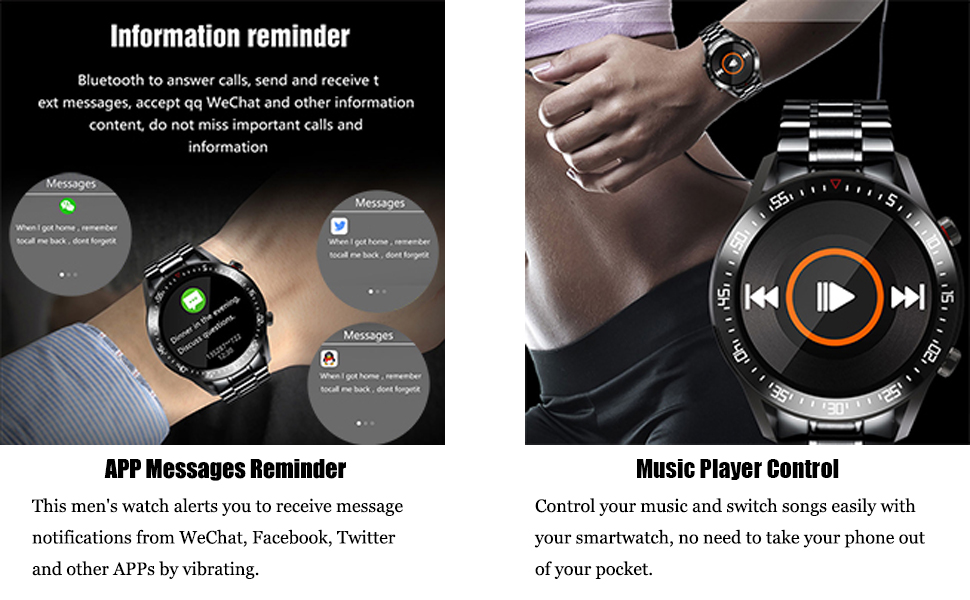 Message Notification, Music Player Control