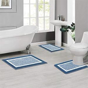 Bathroom Rug Microfiber Plush Shower Mat