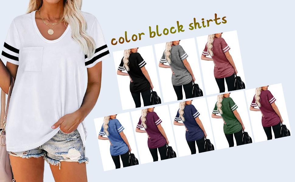 color block shirts