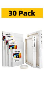 30 Pack Canvas Boards for Painting