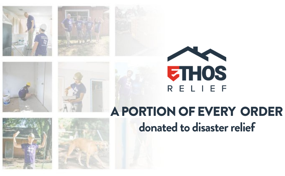 A portion of every order donated to disaster relief