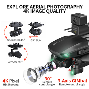 Equipped with the Three-axis gimbal anti-shake 4K HD camera. Easily filter screen vibration.