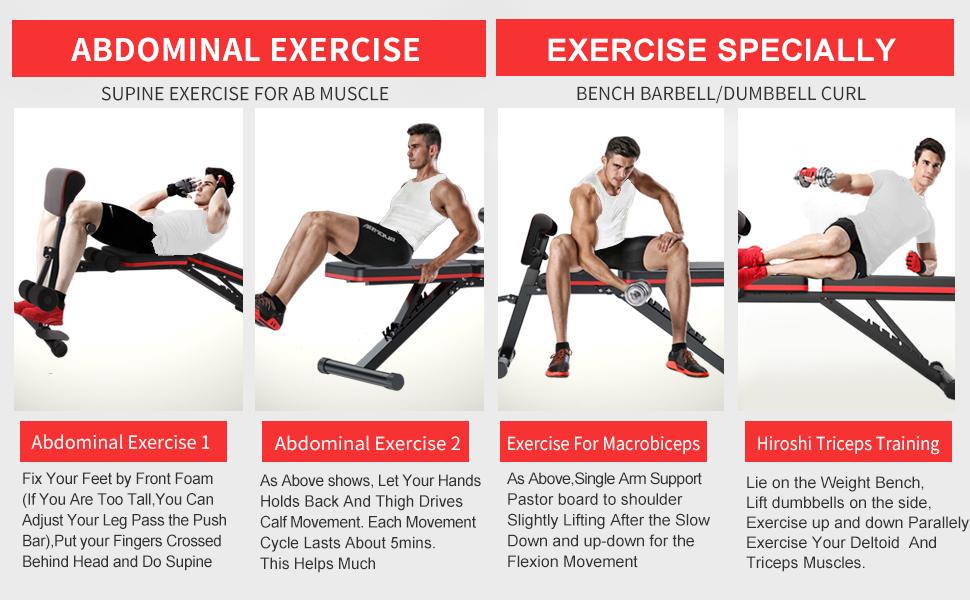 Workout Bench Adjustable
