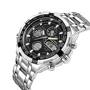 men's watches with steel bracelet