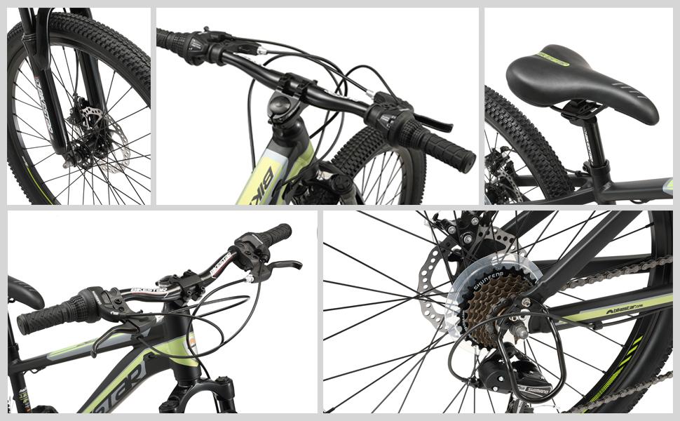 VTT mountainbike 24 pouces pour enfants avec frein à disque