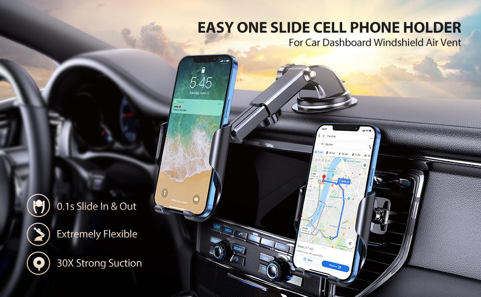 Easy One Slide Cell Phone Holder