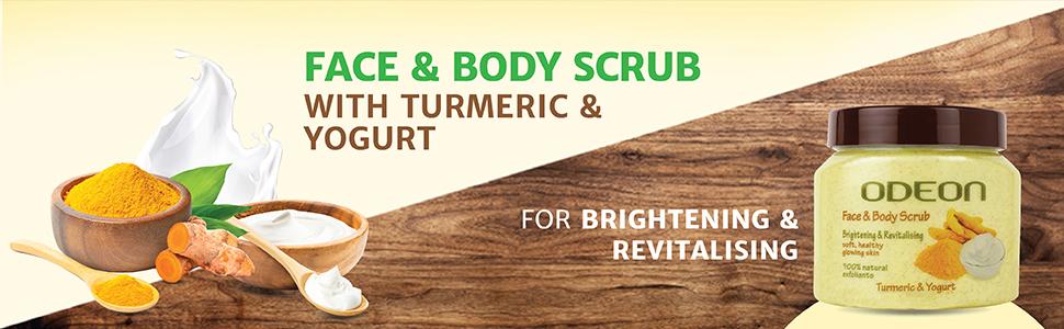 SPN-ONL, face scrub and body scrub for men women dead skin cell removal gel Odeon exfoliating scrub