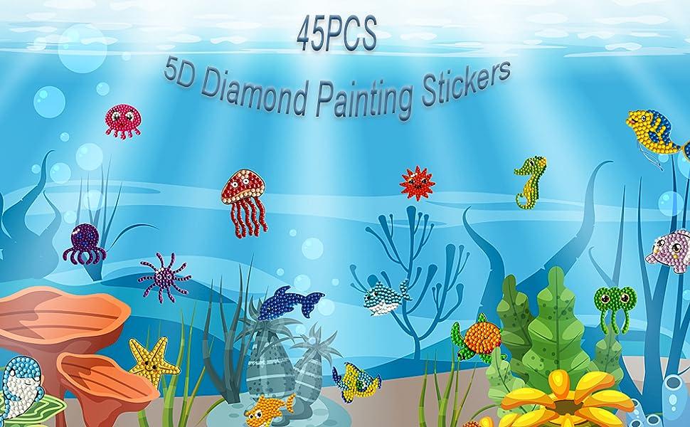 5D Under the Sea Diamond Painting Stickers Kits