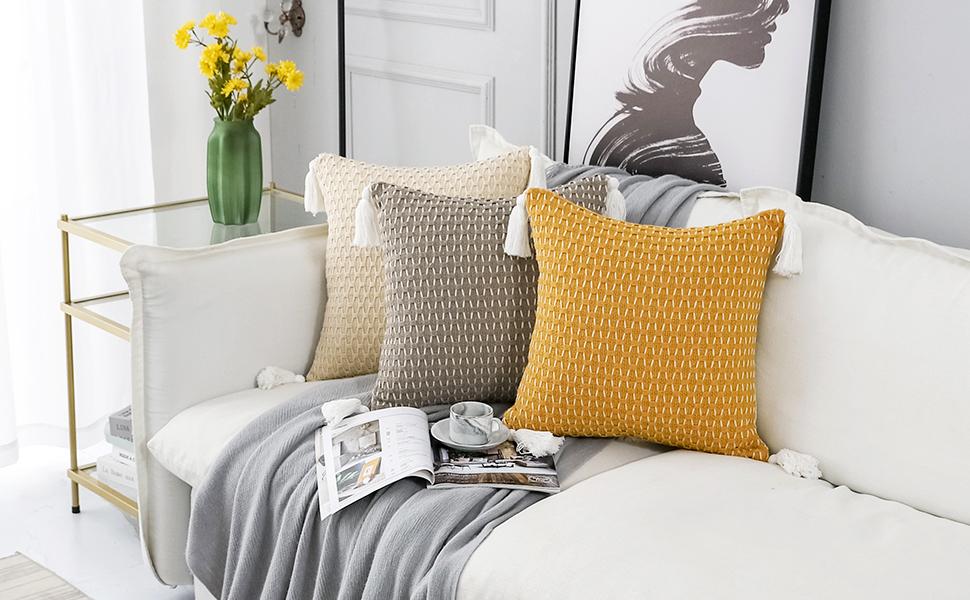 tassel throw pillow covers