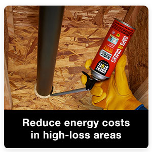 By air sealing your home with foam insulation you can help lower heating and cooling costs.