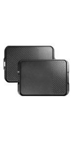 reversible griddle grill pan with super nonstick coating, easy to clean