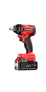 WAKYME 21V Lithium-Ion Brushless Compact Wrench Impact Wrench Tool Kit