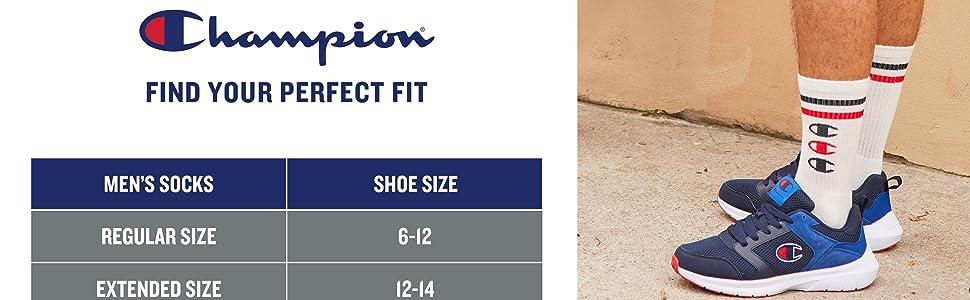 Champion Sock Size Chart