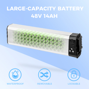 bike battery folding electric with removable 8ah lithium e kit lithium-ion volt for 48v light