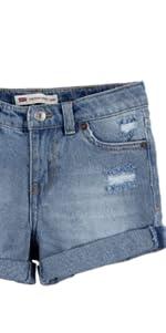 levis girls denim shorty short