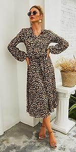 fall midi dress for women