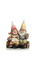 Gnome Couple Statue