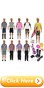 EuTengHao 25Pcs Doll Clothes and Accessories for 12 Inch Boy Dolls
