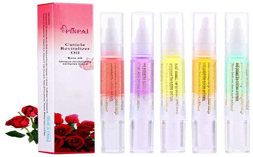 Pinpai Cuticle Oil Pens Cuticle Revitalizer Oil Pen Set Kit Nail Art Gel Polish Nutrition Oil Pen