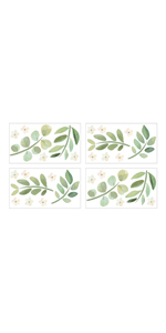 Wall Decals - Set of 4 Sheets