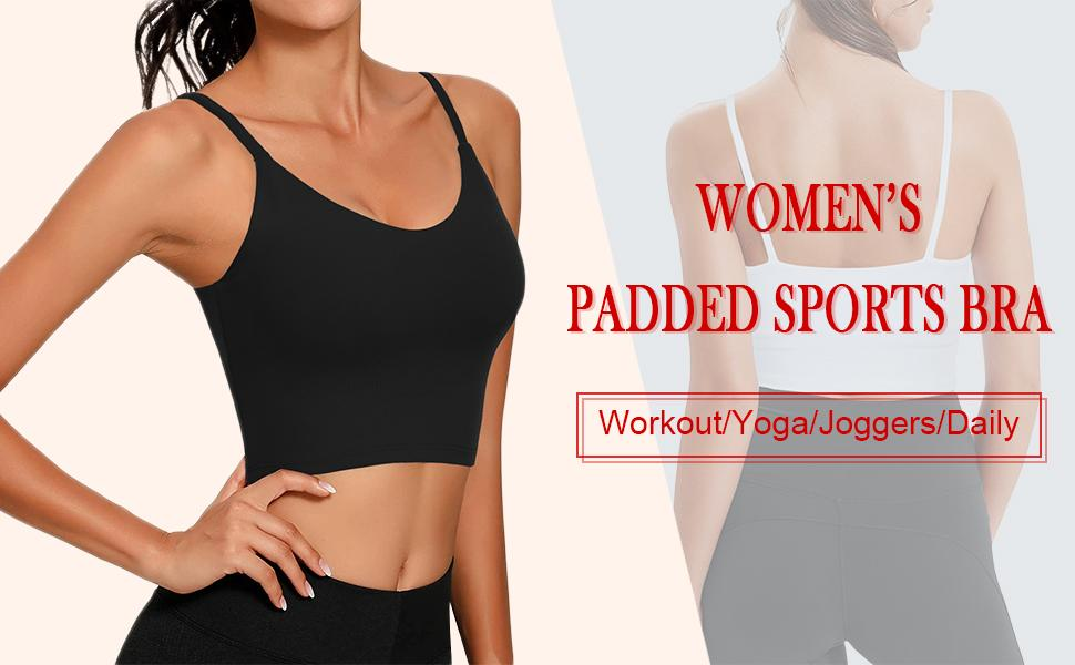 padded sports bra womens ladies workout yoga jogger daily