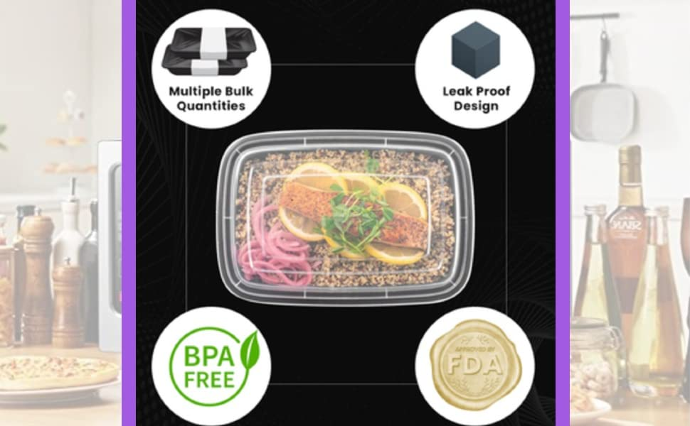 sewtco meal prep container 1 compartment