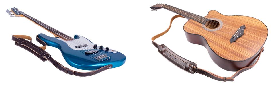 Sangle pour Guitare Acoustique, Sangle pour Guitare électrique, Sangle de Guitare