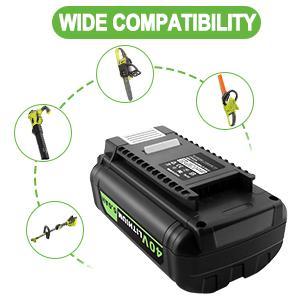For Ryobi 40V cordless tools RY40180, RY40200, RY40201A, RY40202, RY40204, RY40400, RY40402A