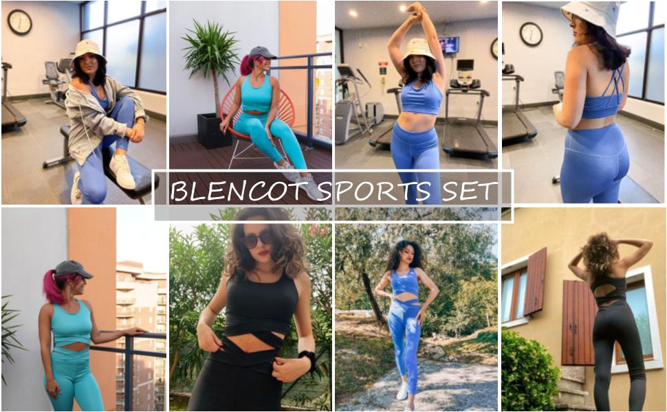 legging sport bra set workout crop top gym set
