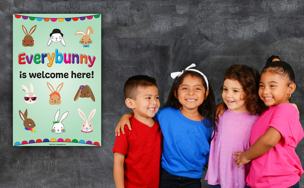 Everybody Welcome Poster for Preschool and Elementary School
